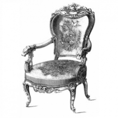 Штамп полимерный Antique Chair | Скрапбукинг – интернет-магазин